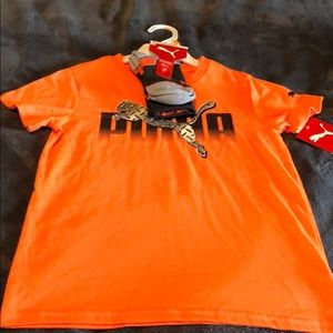 Boys size 7 T-shirt and sock set by Puma